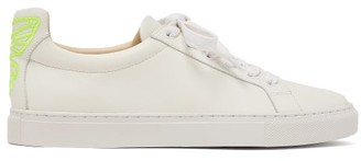 Sophia Webster Wing-embroidered Leather Trainers - Womens - White