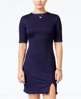Teeze Me Juniors' Reversible Knit Slit Dress