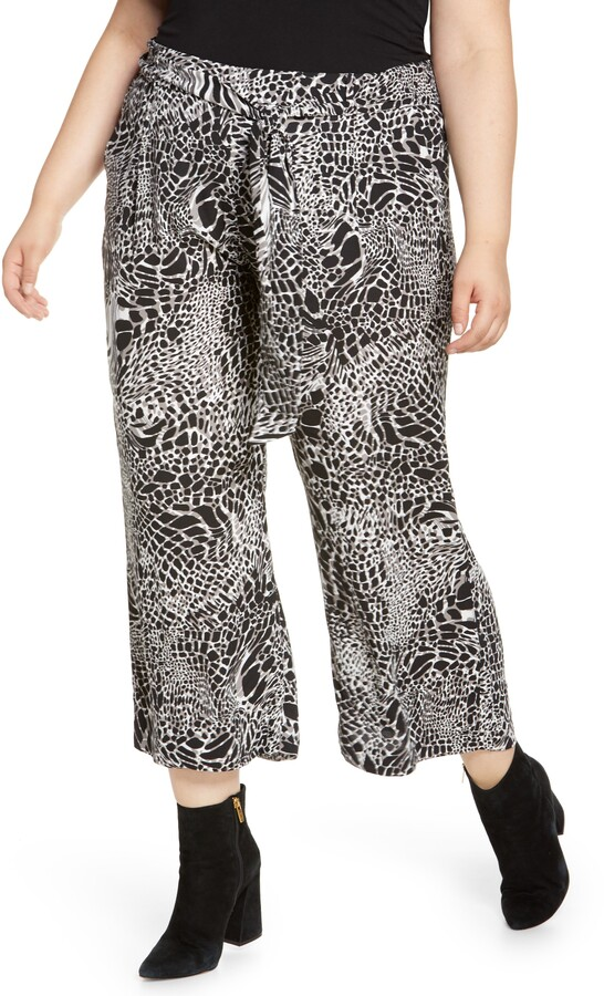 Halogen Belted Crop Wide Leg Pants