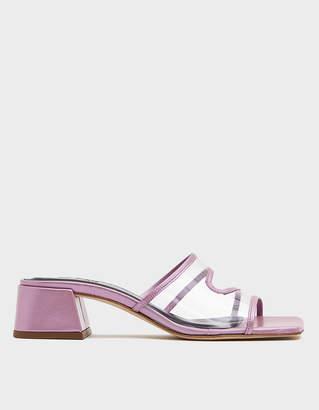 BY FAR Lola Slide in Lilac Metallic