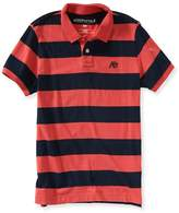 Aeropostale Mens Striped A87 Rugby Polo Shirt L