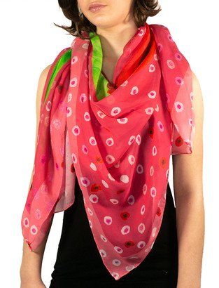 Mila & Such Kiss Me Silk Chiffon Scarf - X-Large