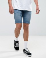 Tommy Hilfiger Scanton Slim Denim Shorts In Bright Blue Mid Wash