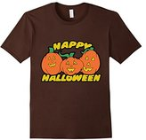 Men's Happy Halloween shirt cute happy pumpkin t-shirt XL
