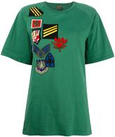 Mr & Mrs Italy - patched Raglan T-shirt - women - Cotton/Polyamide/Polyester/Wool - 38