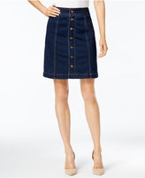 Charter Club Button-Front Denim Skirt, Only at Macy's