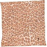 Saint Laurent Leopard Print Pocket Square