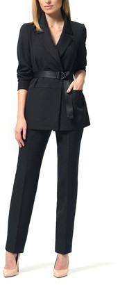 LADA LUCCI Women's Blazers Black - Black Open Blazer & Pants - Women & Plus