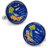 Penny Black 40 Hand Painted US Virgin Islands Coin Cufflinks