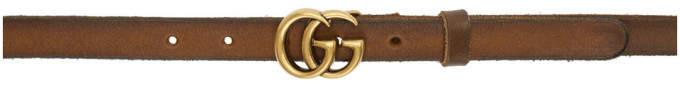 Gucci Brown GG Belt