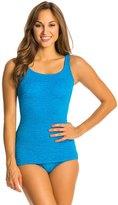 Penbrooke Mastectomy Krinkle Scoop Neck Sheath Chlorine Resistant One Piece Swimsuit 7538875