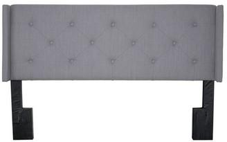 Bernards Lyla Queen Headboard In Gray Size: Queen
