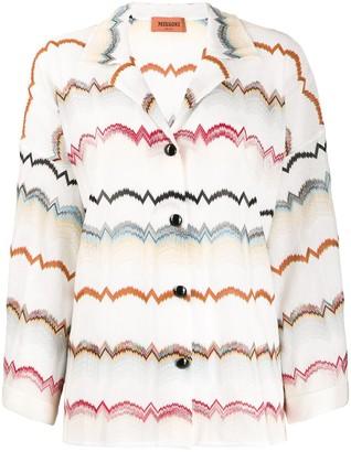 Missoni Zig-Zag Crochet-Knit Shirt