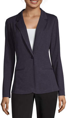 WORTHINGTON Worthington Womens Ponte Blazer