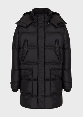 Emporio Armani Quilted Nylon Down Jacket With Hood