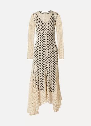 By Malene Birger Dry Desert Satin-trimmed Cutout Jersey Maxi Dress - Cream