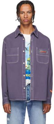 Heron Preston Purple Worker Shirt