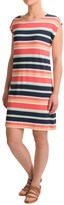 Kenar Stripe T-Shirt Dress - Dolman Short Sleeve (For Women)