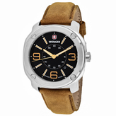 Wenger Escort 01.1051.102 Men's Stainless Steel and Light Brown Leather Watch