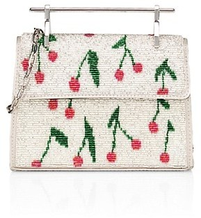 M2Malletier Mini Muse Cherry Beaded Clutch