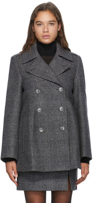 Nina Ricci Grey Wool Double-Breasted Jacket