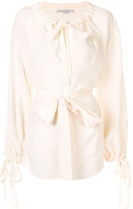 Stella McCartney Tie-Detail Drawstring Blouse