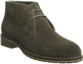 Ask the Missus Inland Chukka Boots Khaki Suede