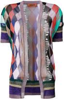 Missoni colour block argyle knit cardigan