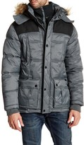 Ben Sherman Faux Fur Trim Hooded Quilted Jacket