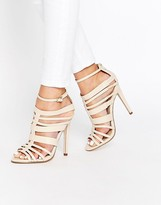 Little Mistress Taylor Multi Strap Peep Toe Heeled Sandals