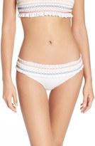 Tory Burch Women's Costa Smocked Hipster Bikini Bottoms