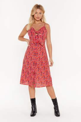 Nasty Gal Womens Branch Out Floral Tie Dress - Red - 6
