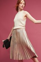 Maeve Pleated Metallic Skirt
