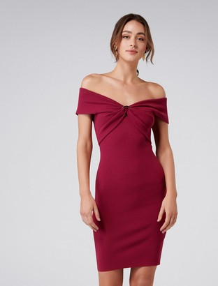Forever New Odette Ring Knitted Dress - Berry Bliss - 4