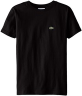 Lacoste Kids - S/S Classic Crewneck Jersey Tee Boy's Short Sleeve Pullover