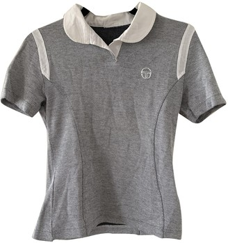 Sergio Tacchini Grey Cotton Top for Women