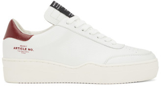 Article No. White and Burgundy 0517 Low-Top Sneakers