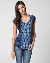 Le Château Batik Print Jersey Knit Top