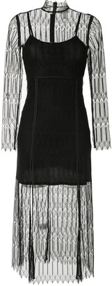 Alice McCall Do Magic lace-overlay midi dress