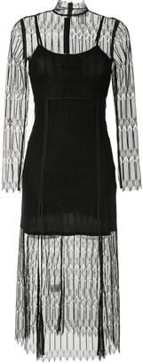 Alice McCall Do Magic lace-overlay midi dress