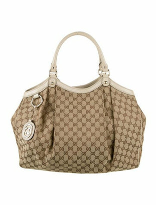 Gucci Large GG Canvas Sukey Hobo Gold