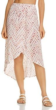 J Valdi Confetti Dot Print Skirt Swim Cover-Up