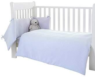 Clair De Lune Waffle Cot/Cot Bed Quilt and Bumper Set