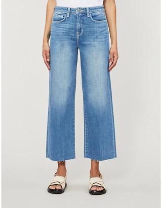 L'Agence Danica cropped high-rise stretch-denim jeans