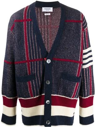 Thom Browne 4-Bar check-pattern cardigan