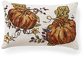 Southern Living Harvest Collection Pumpkin-Embroidered Pillow