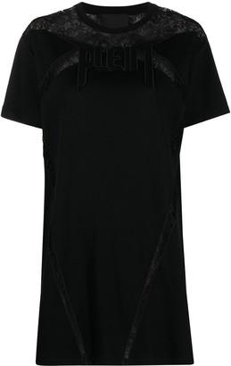 Philipp Plein lace T-shirt dress