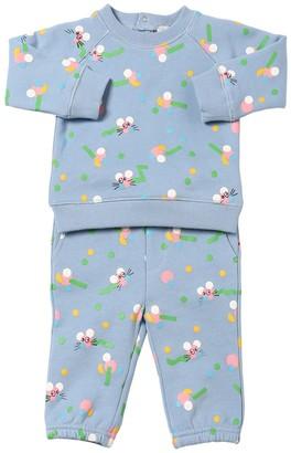 Stella McCartney Mouse Print Cotton Sweatshirt & Pants