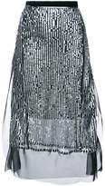 Sacai Sequin embellished skirt