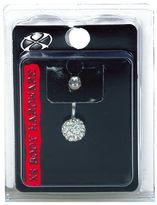 Pacific Piercing Supply X8 Body Hardware 14G Crystal Multi Stone Ball Navel Jewelry